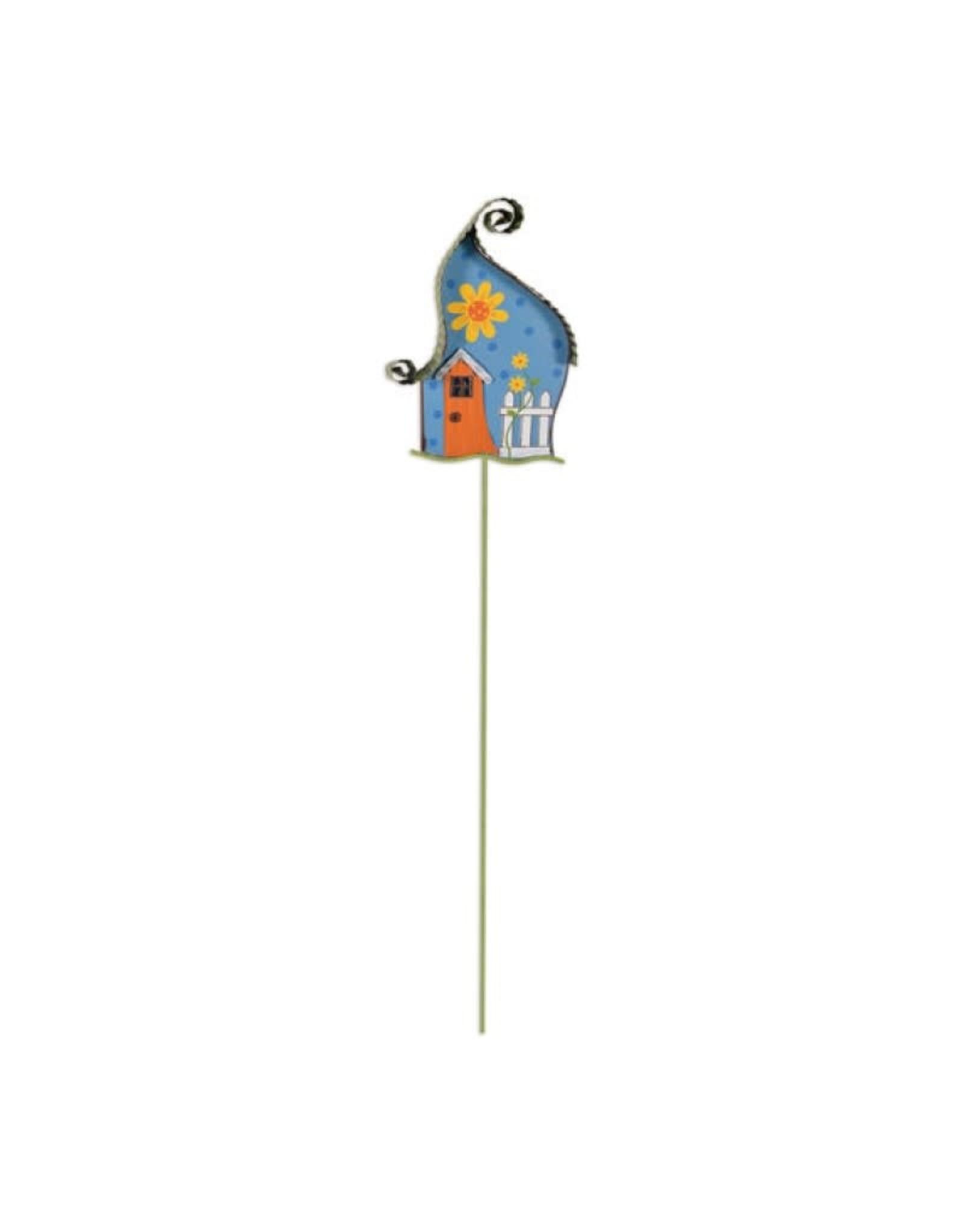 Garden Stake - Blue House