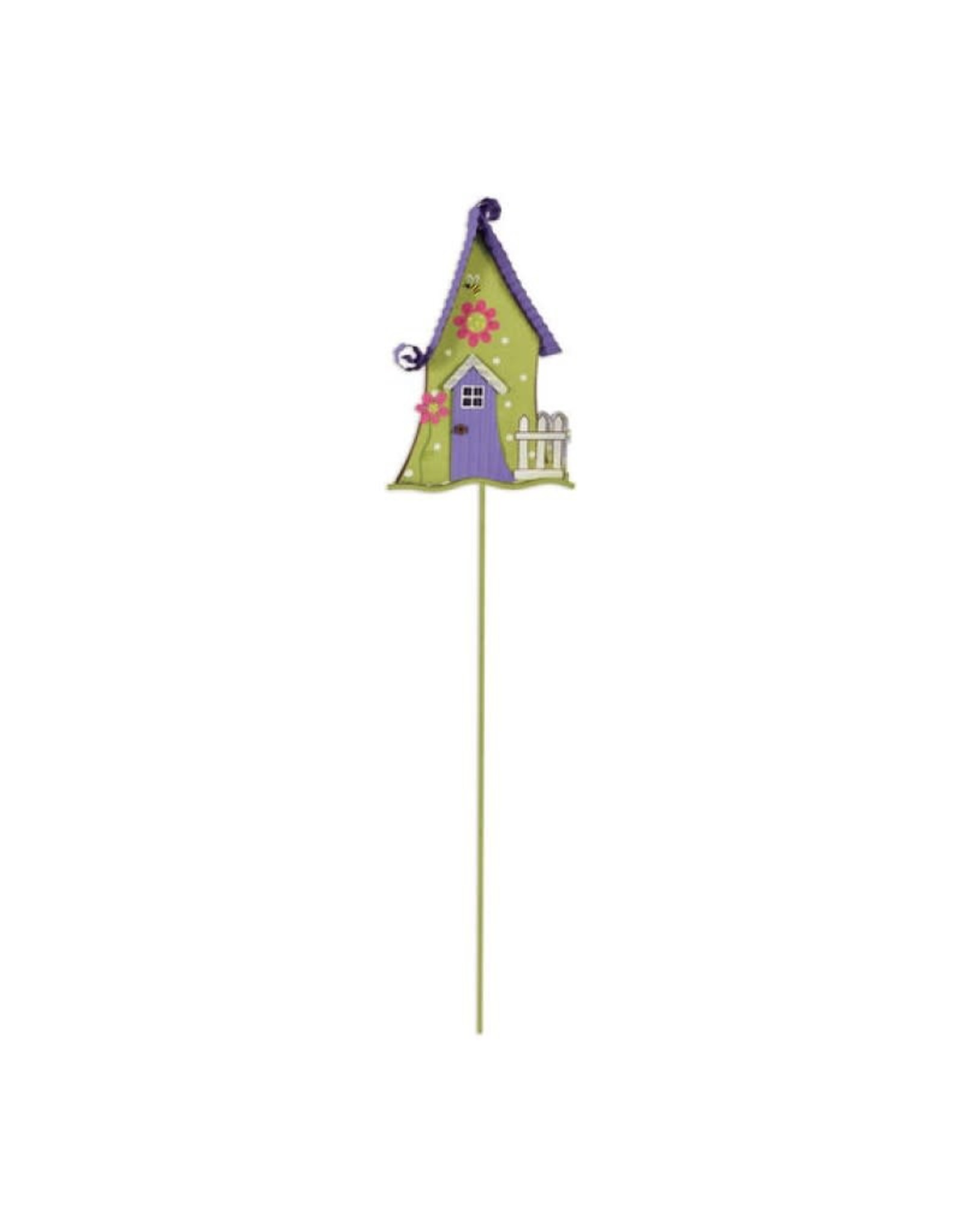 Garden Stake - Purple & Green House