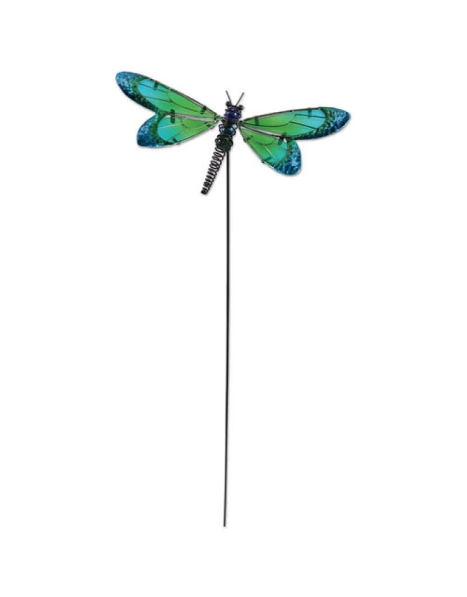 Garden Stake - Green Dragonfly
