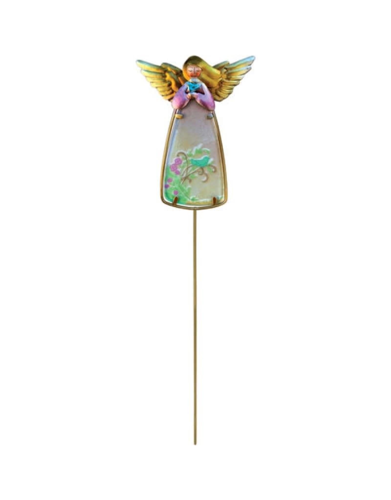 Garden Stake - Angel w/Bird