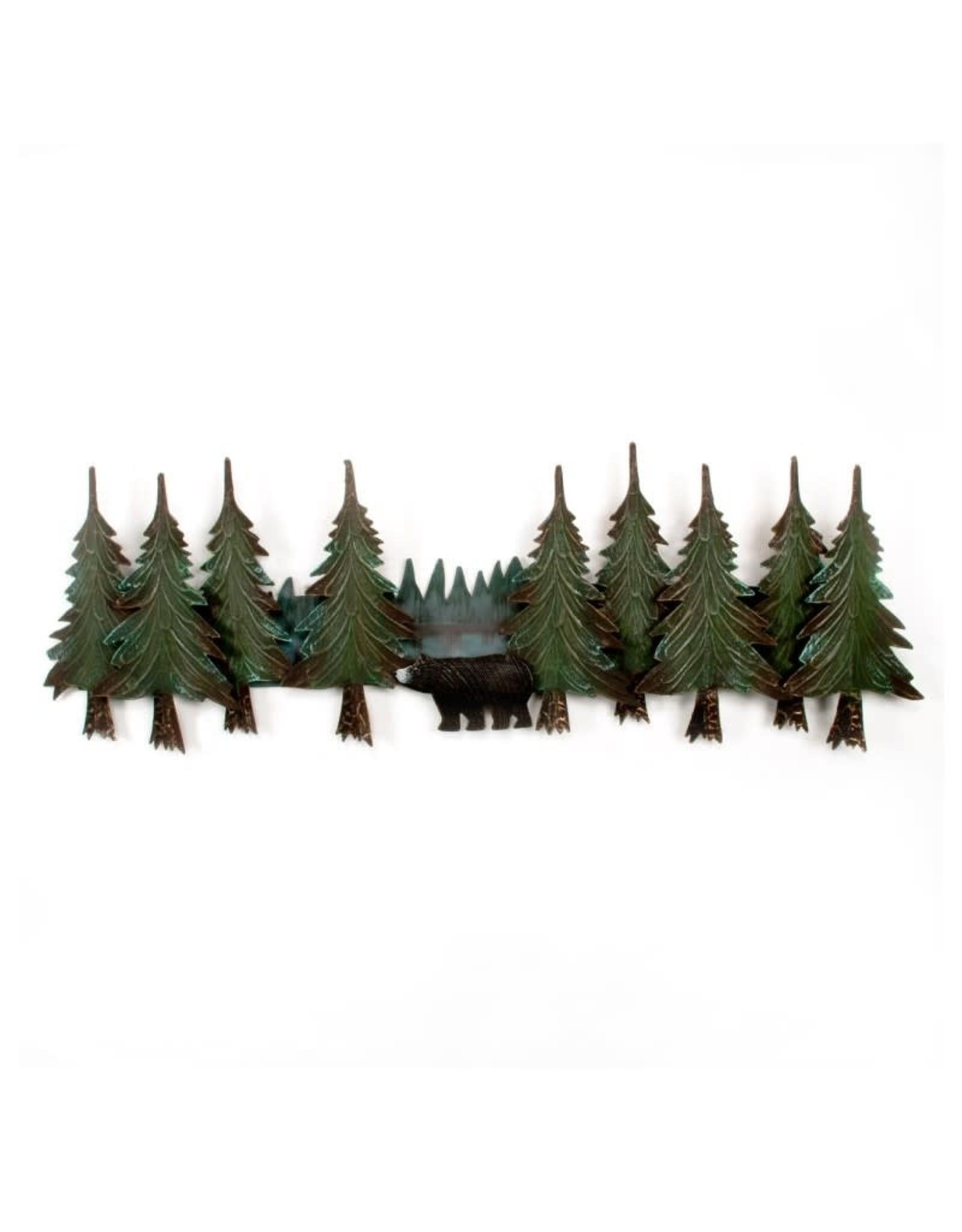 Metal Pine Tree Bear Swag