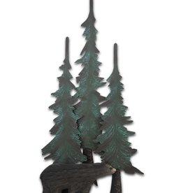 Black Bear with Pine Tree Wall Decor