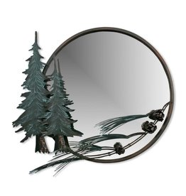 Round Pine Tree Mirror