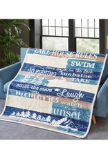 Flannel Sherpa Throw - Lake House Rules