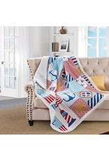 Quilted Sherpa Throw - Anchor's Away