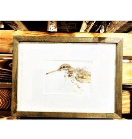 Michele Detering Art Sandpiper - Framed Original 15x11