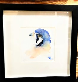 Michele Detering Art Kestrel Study - Framed Original 10x10