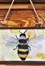 Michele Detering Art Bee - Framed Metal Giclee 5x7