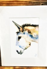 Michele Detering Art Donkey Study - 8x10 Matted Print
