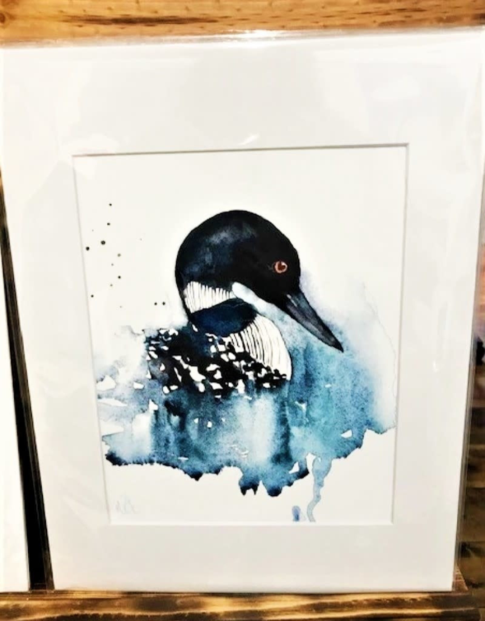 Michele Detering Art Loon - 11x14 Matted Print