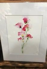 Michele Detering Art Sweet Pea - 11x14 Matted Print