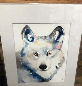 Michele Detering Art Wolf - 11x14 Matted Print