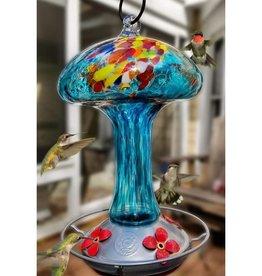 Hummingbird Feeder - Blue Mushroom