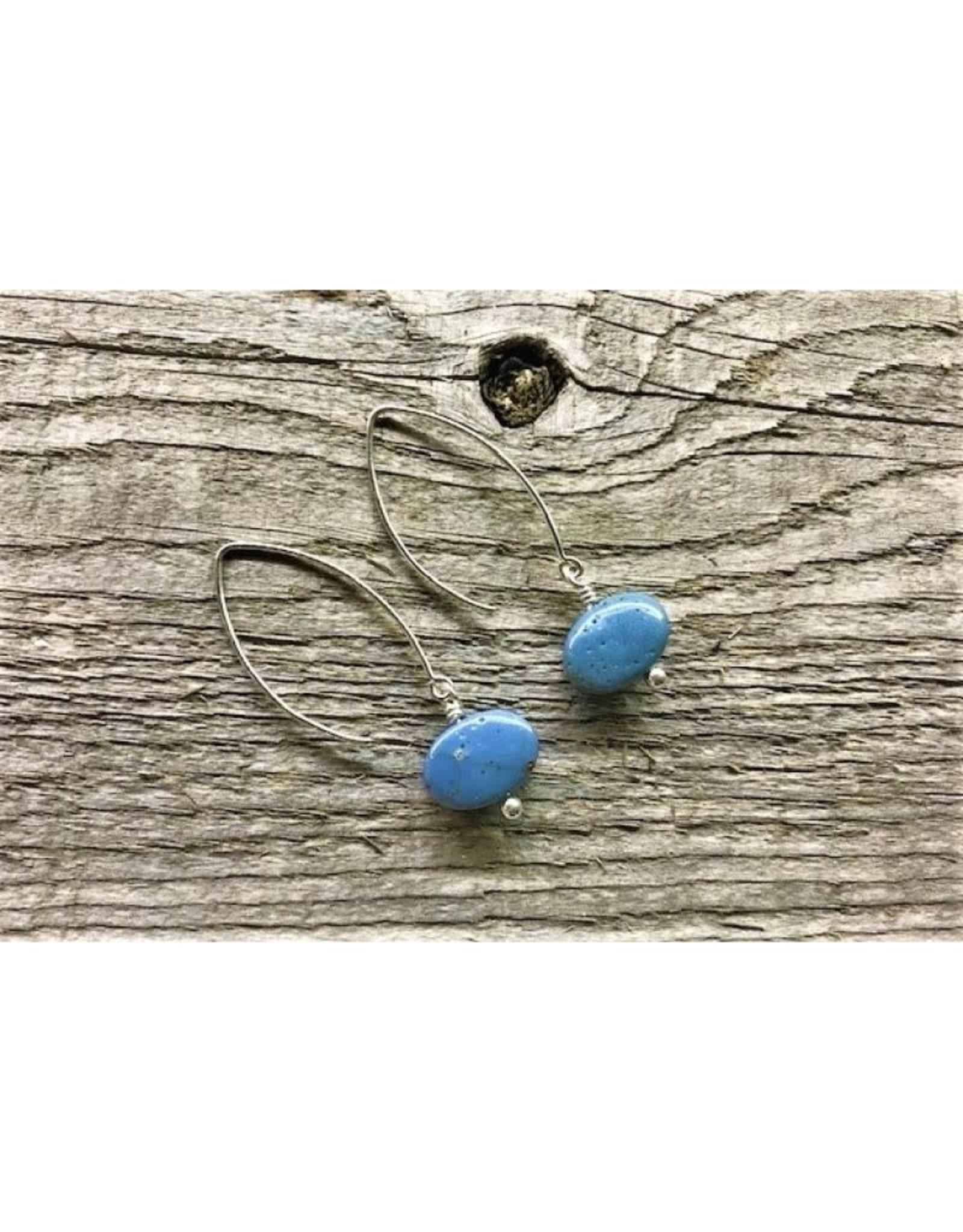 Drop Earrings - Leland Blue/Oval