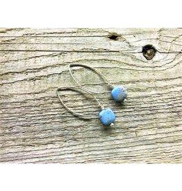 Drop Earrings - Leland Blue Sm Square