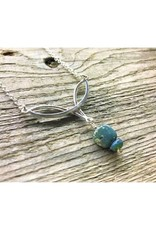 Celtic Necklace - Leland Blue Square w/bead 18''