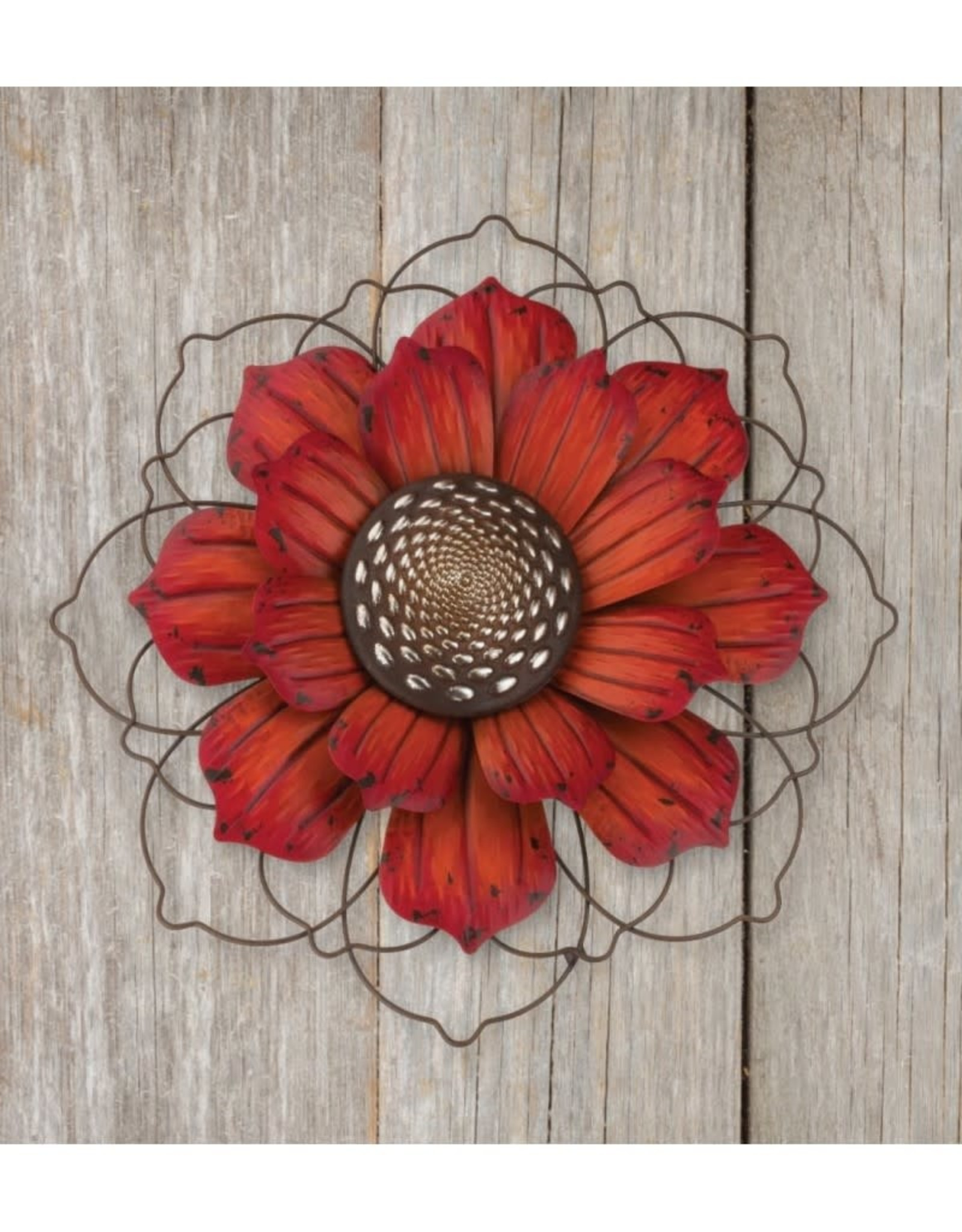 Giant Rustic Flower Stake - Red