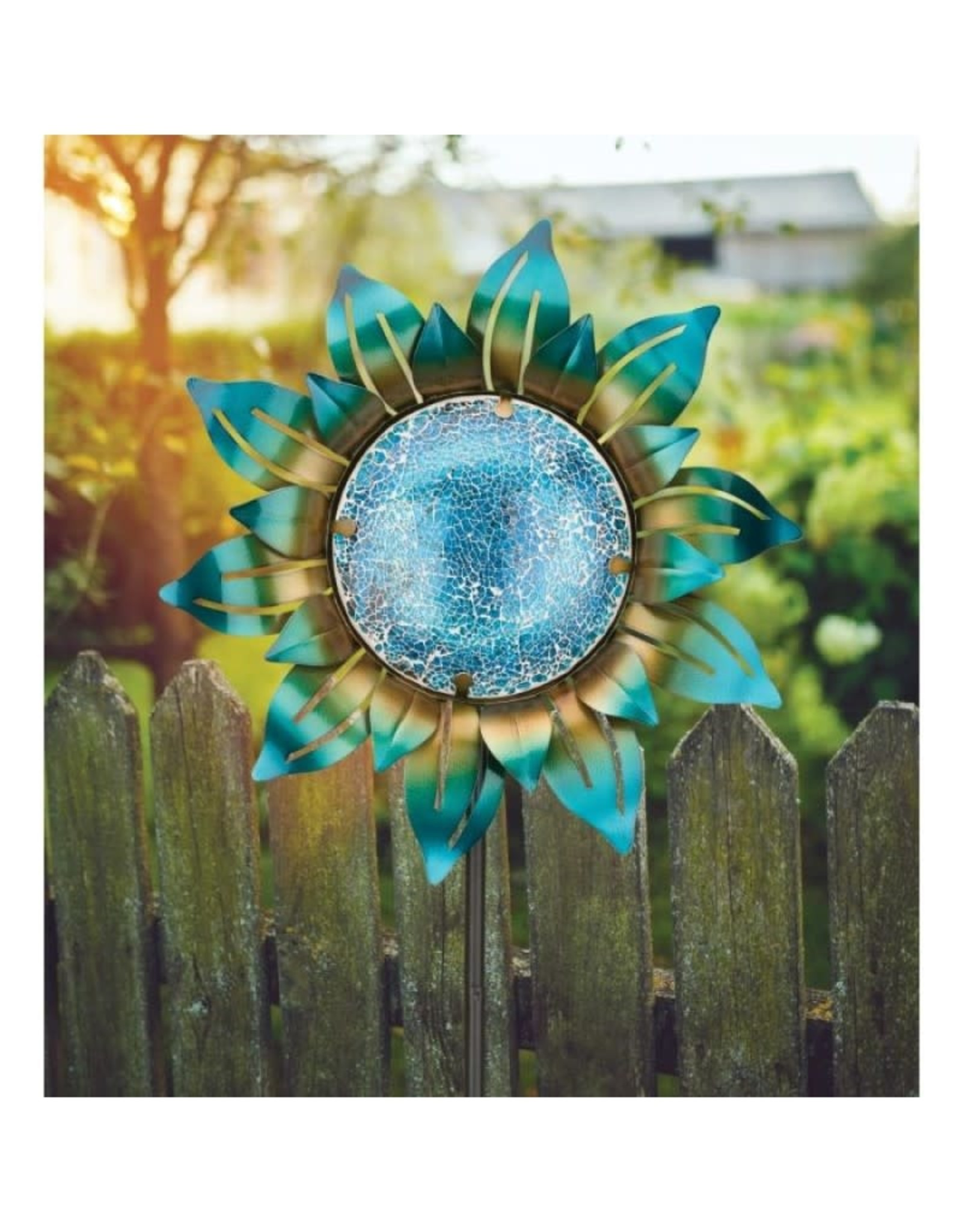 Mosaic Flower Stake - Blue