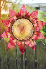 Mosaic Flower Stake - Orange