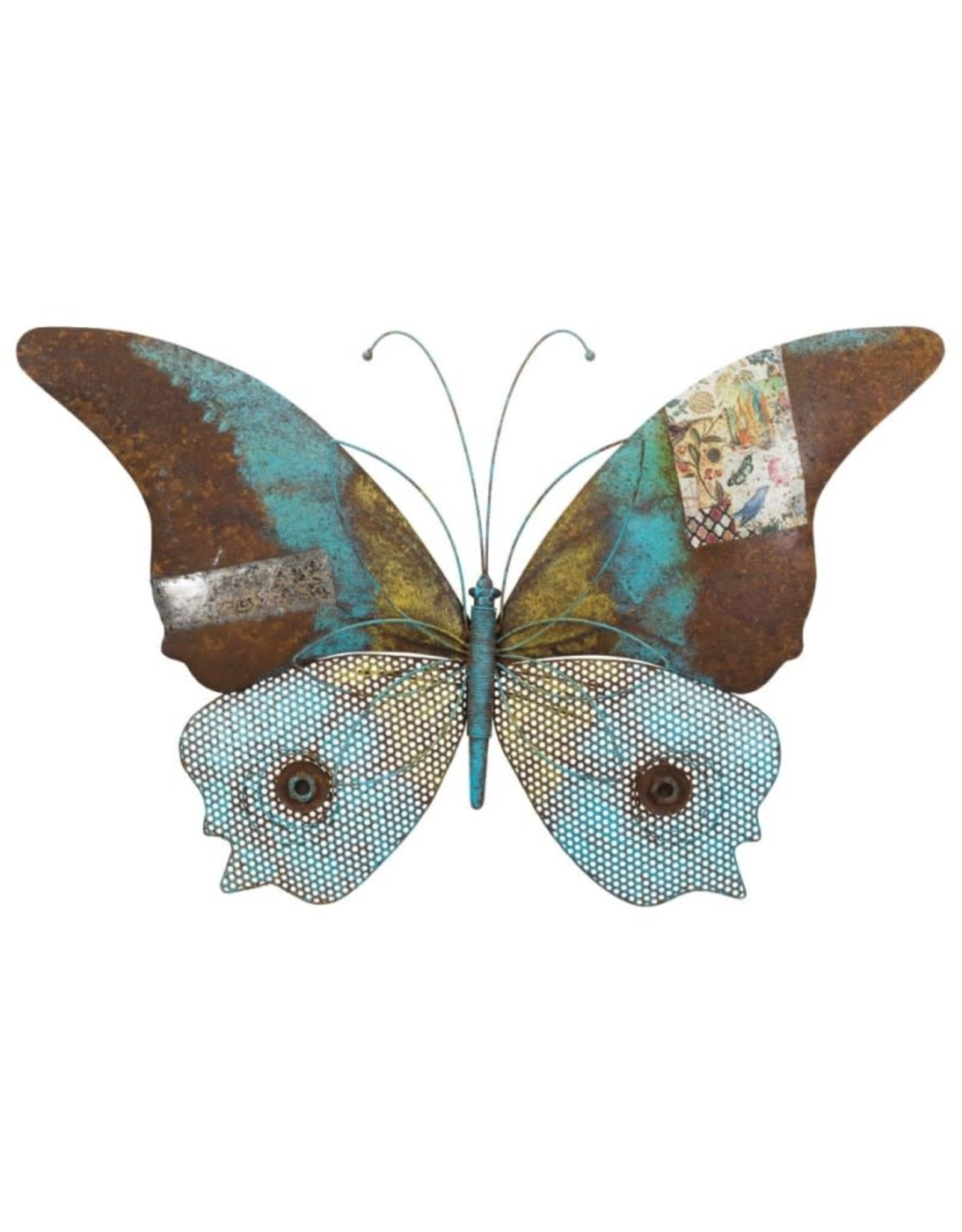 Rustic Wall Decor - Butterfly Blue