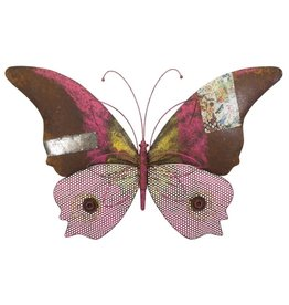 Rustic Wall Decor - Butterfly Pink