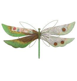 Rustic Wall Decor - Dragonfly Green