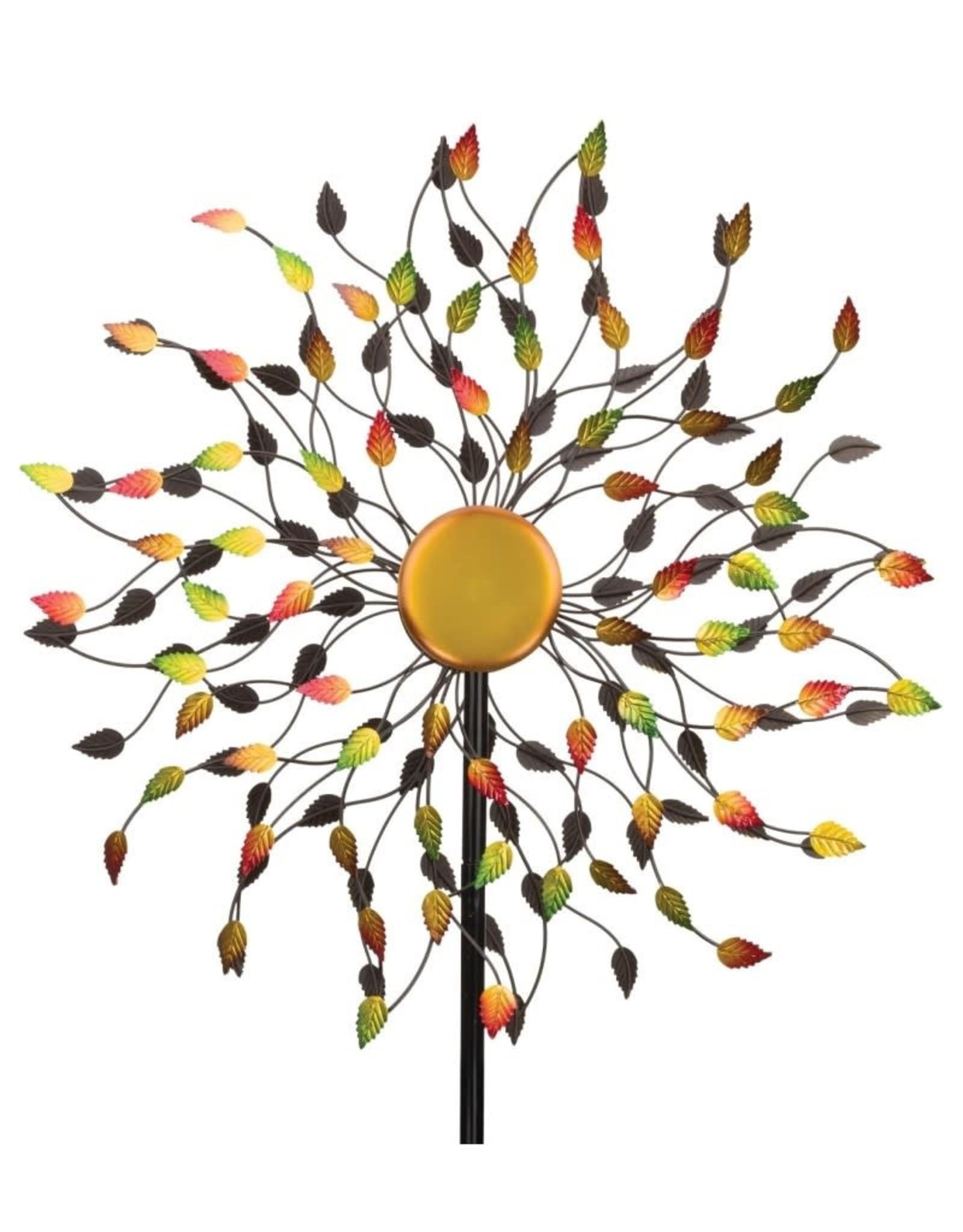 Kinetic Wind Spinner Stake - Leaves
