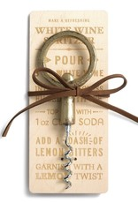 Antiqued Brass Finish Wine Opener