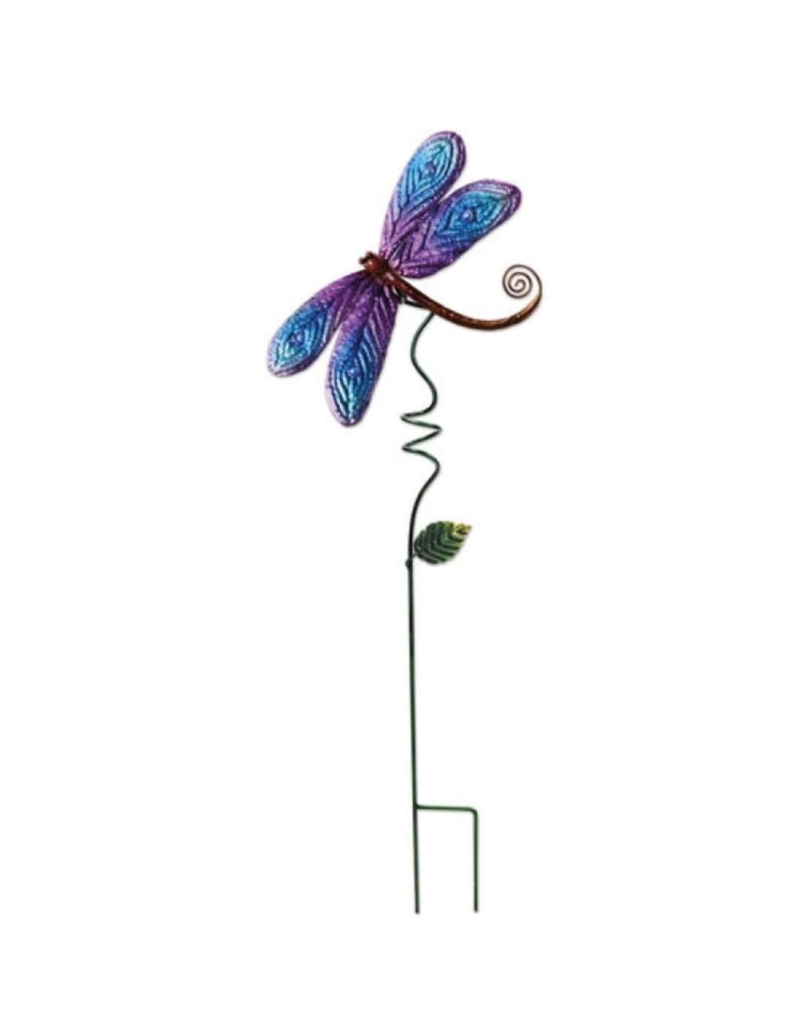 Garden Stake - Dragonfly Blue/Purple 28''