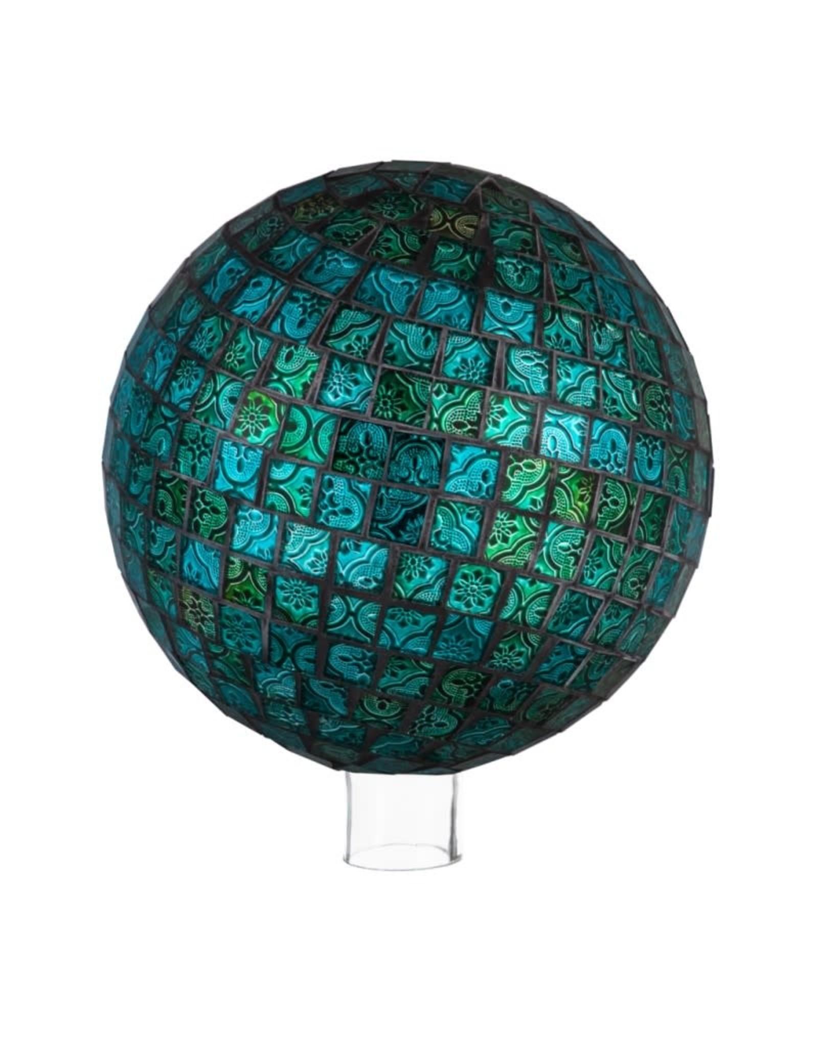 Gazing Ball - Turquoise Mosaic