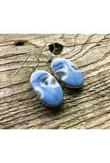 Pendant Earrings - Blue Opal