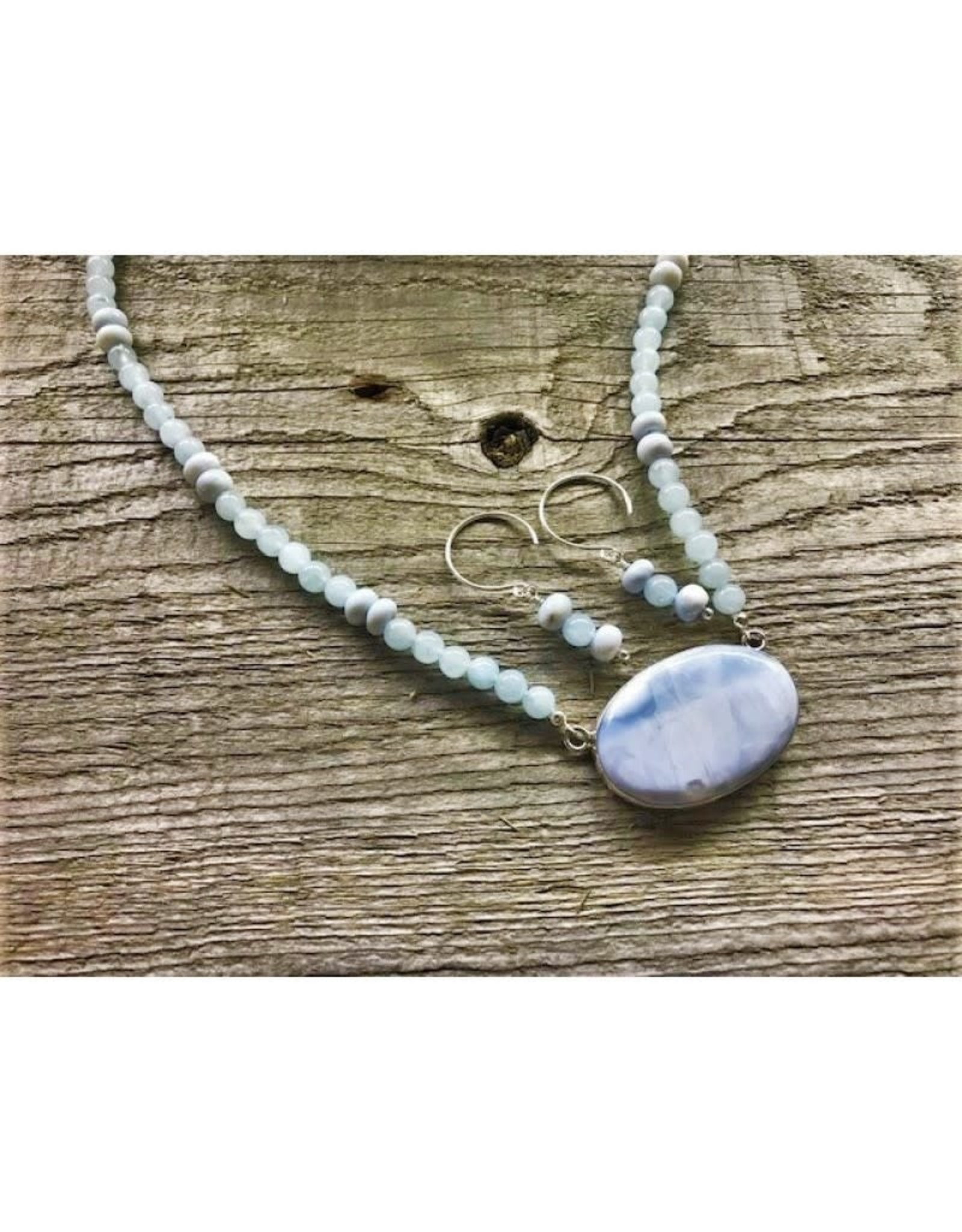 Necklace - Blue Opal & Aquamarine