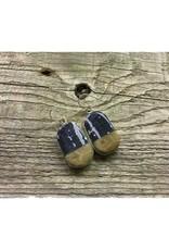Pendant Earrings - Leland Blue & Petoskey Stone