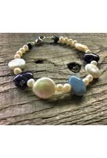 Bracelet - Leland Blue & Pearl