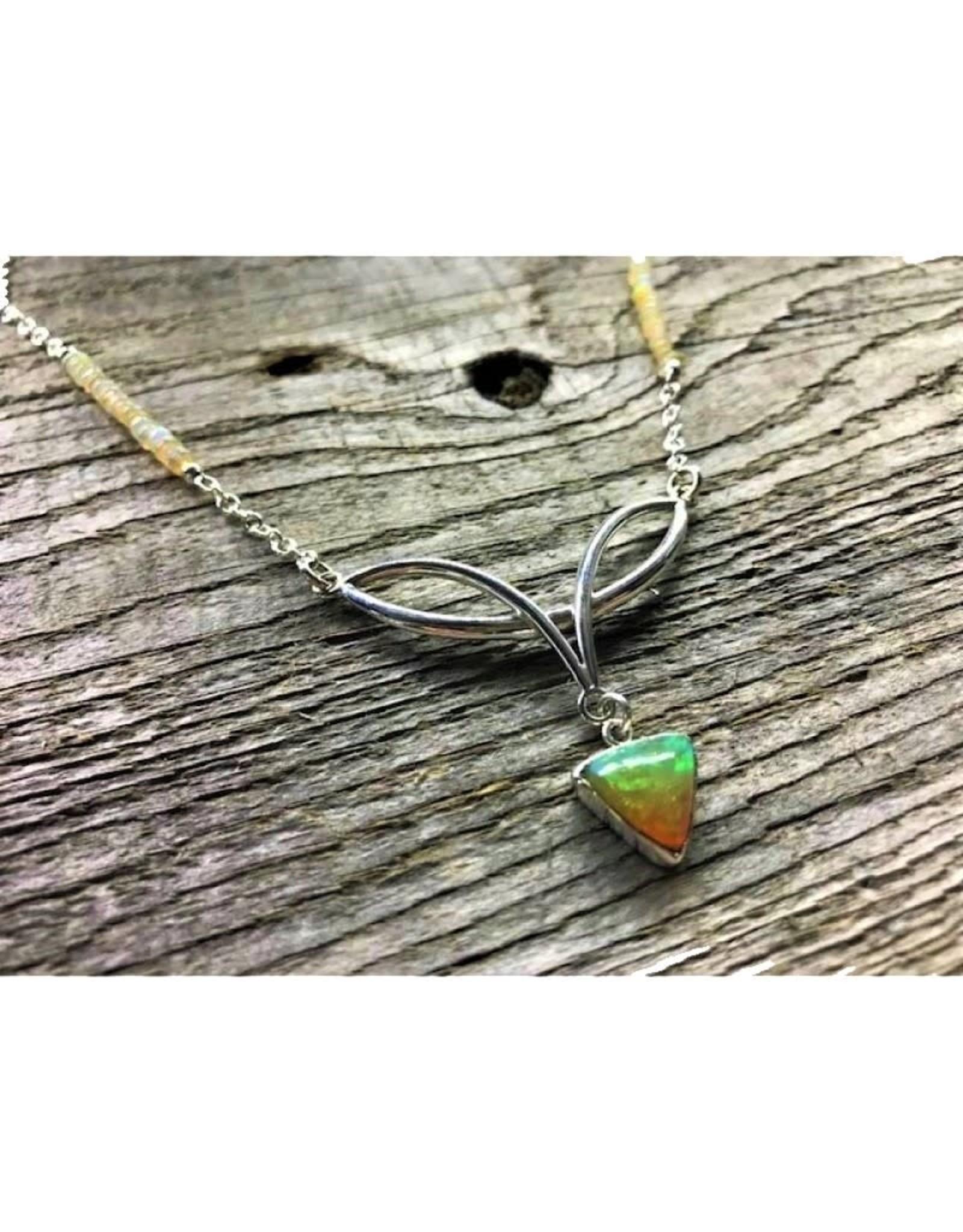 Celtic Necklace - Opal