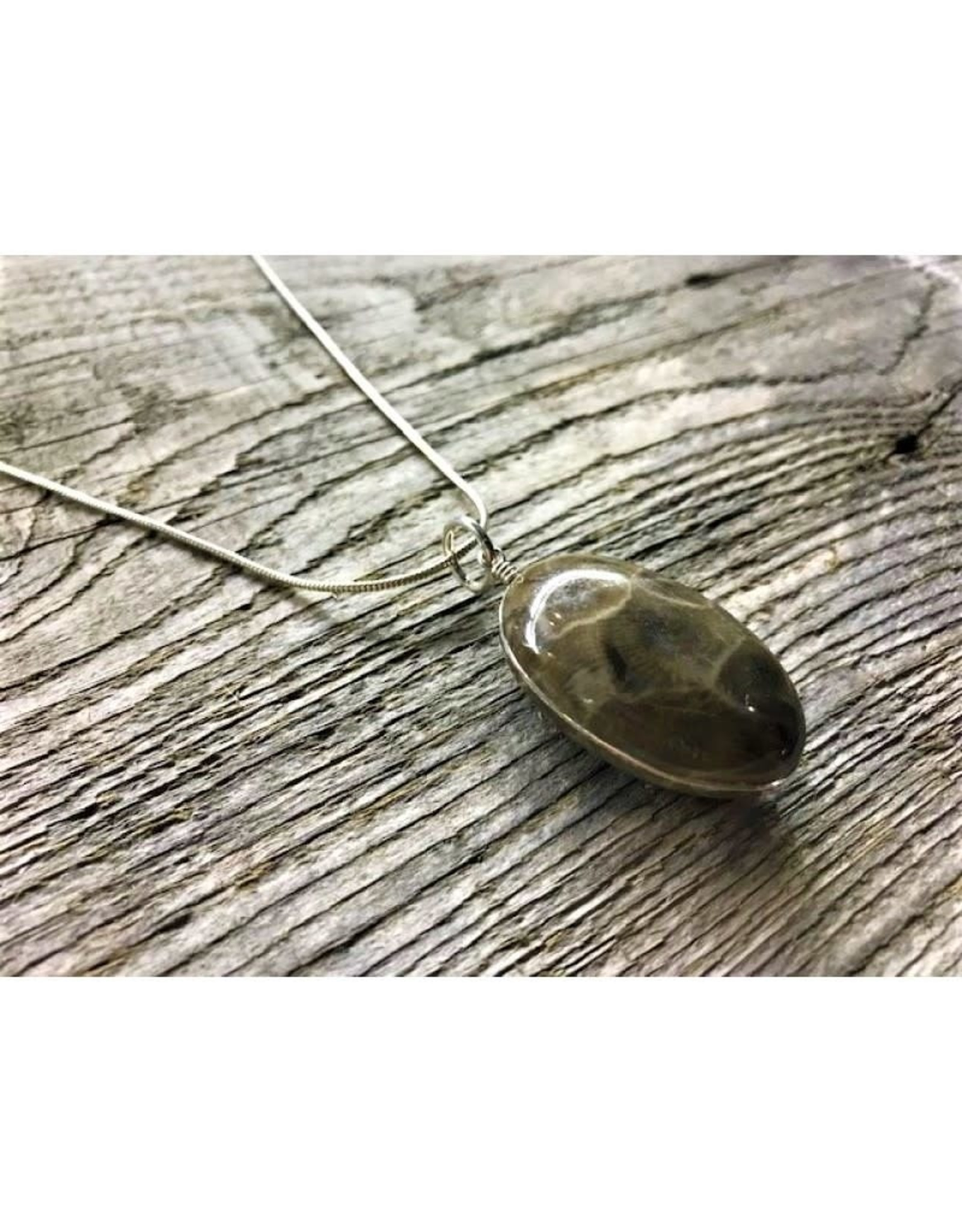 Necklace Pendant - Petoskey Stone