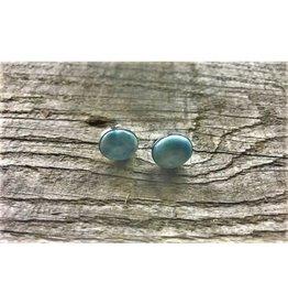 Stud Earrings - Larimar