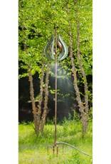 Kinetic Wind Spinner Stake - Misting Copper & Verdigris Tulip