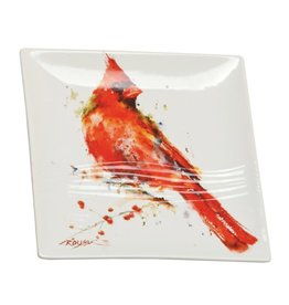 Dean Crouser Dean Crouser Snack Plate - Cardinal