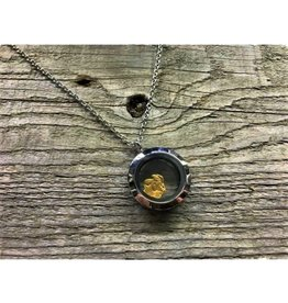 Mining Necklace - Gold Nugget in Sterling Silver 19 grains