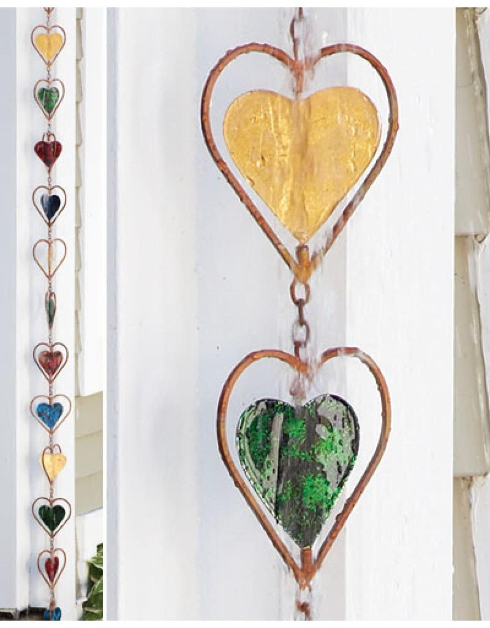 Rain Chain - Multicolor Heart