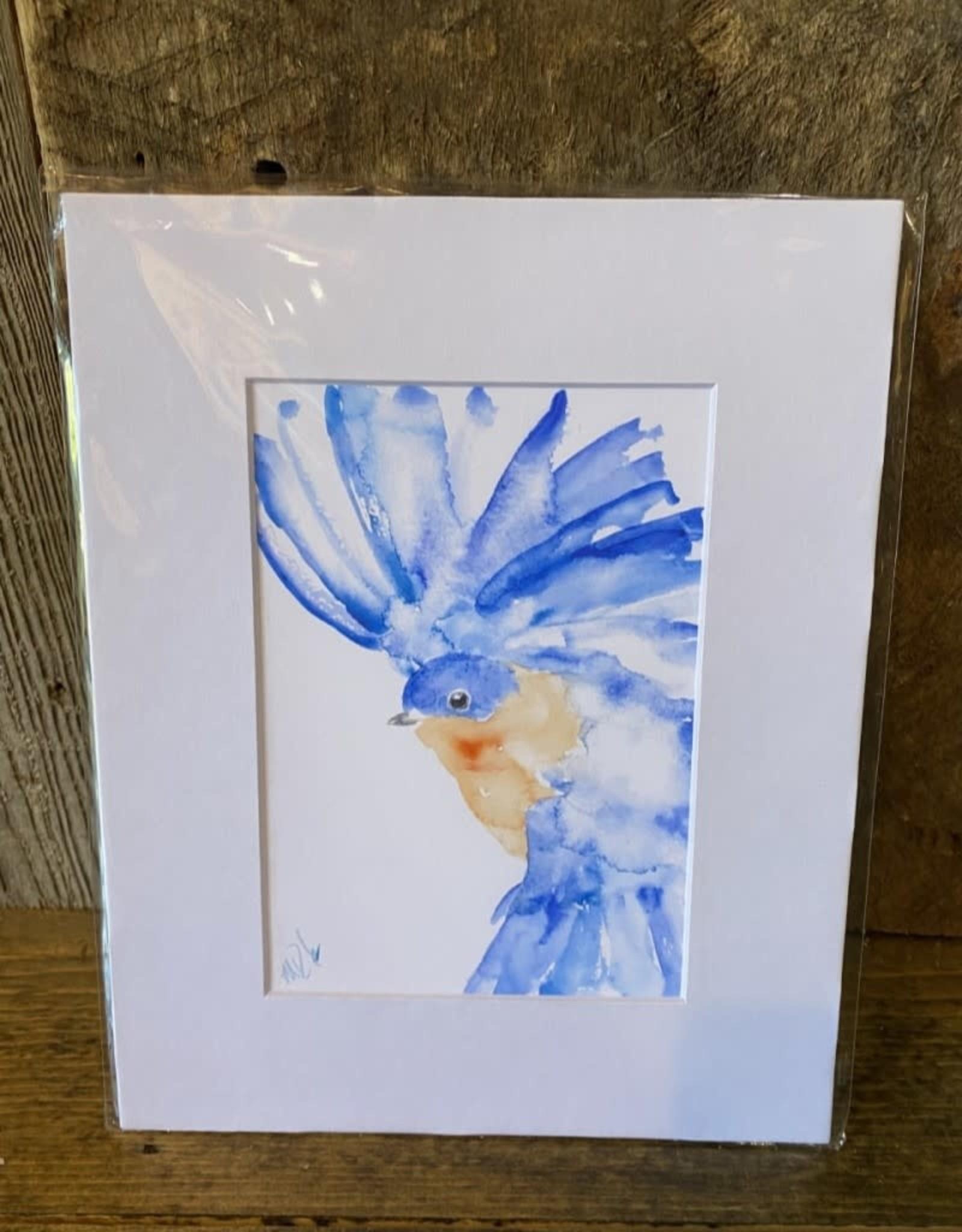 Michelle Detering Art Eastern Bluebird - 8x10 Matted Print