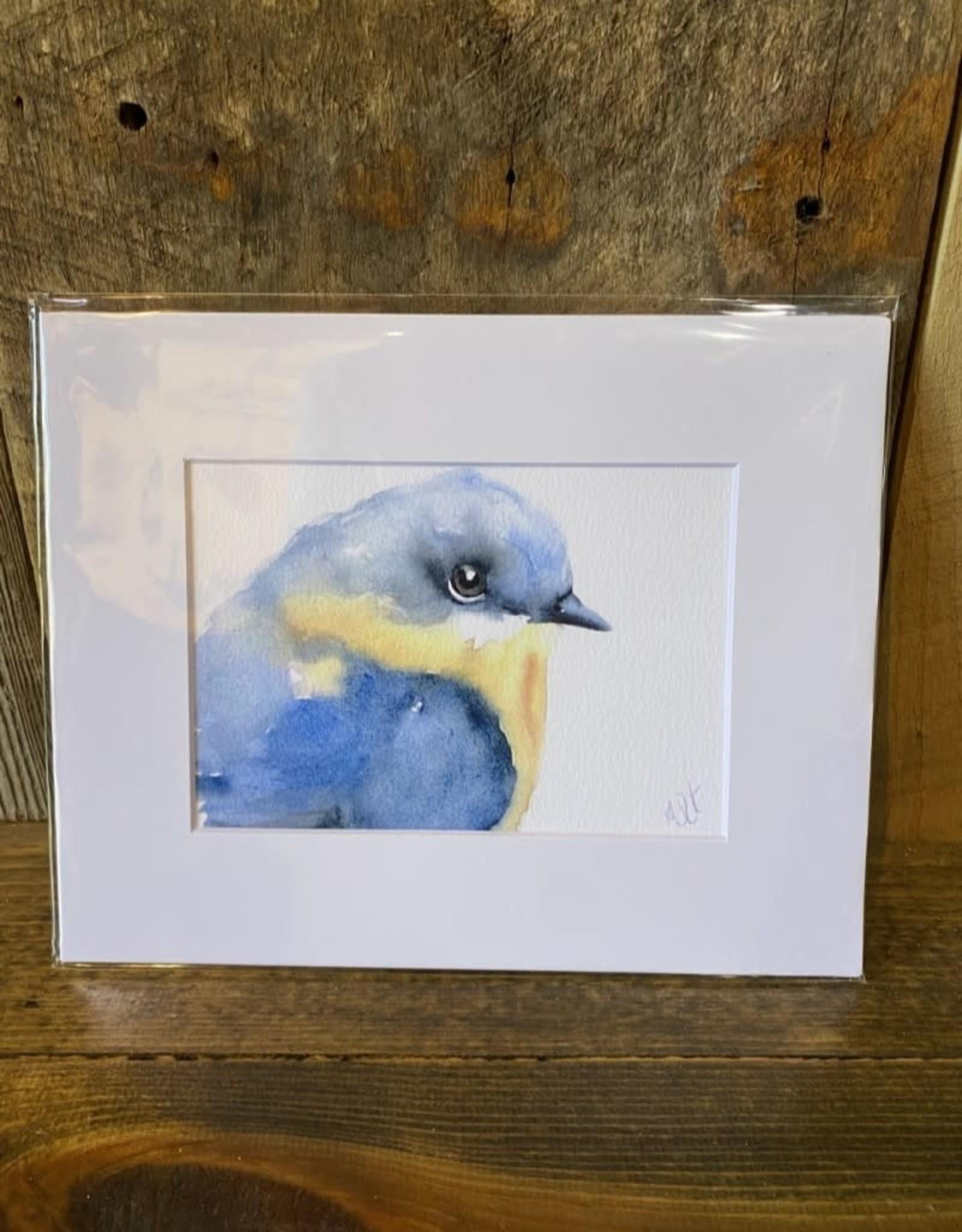 Michelle Detering Art Michelle Detering Limited Matted Print - Bluebird Study