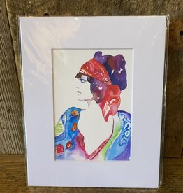 Michelle Detering Art Michelle Detering Limited Matted Print - Bohemian Style
