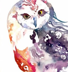 Michelle Detering Art Michelle Detering Open Edition Matted Print - Rainbow Owl