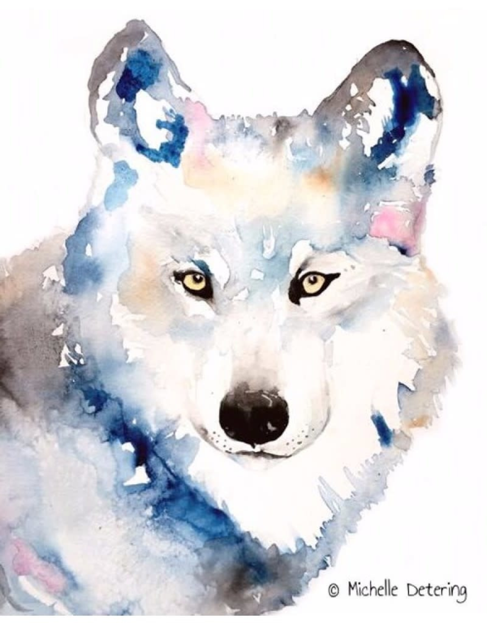 Michelle Detering Art Michelle Detering Limited Matted Print - Wolf