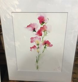 Michelle Detering Art Michelle Detering Limited Matted Print - Sweet Pea