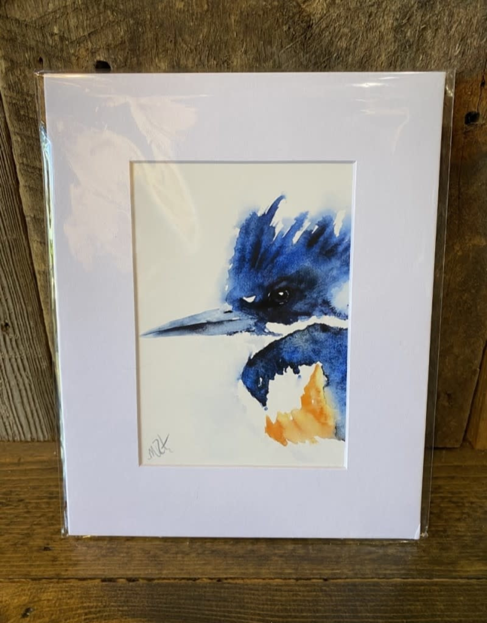 Michelle Detering Art Michelle Detering Limited Matted Print - Kingfisher