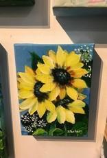 """Sunny Flowers"" 6x8 Original Acrylic"