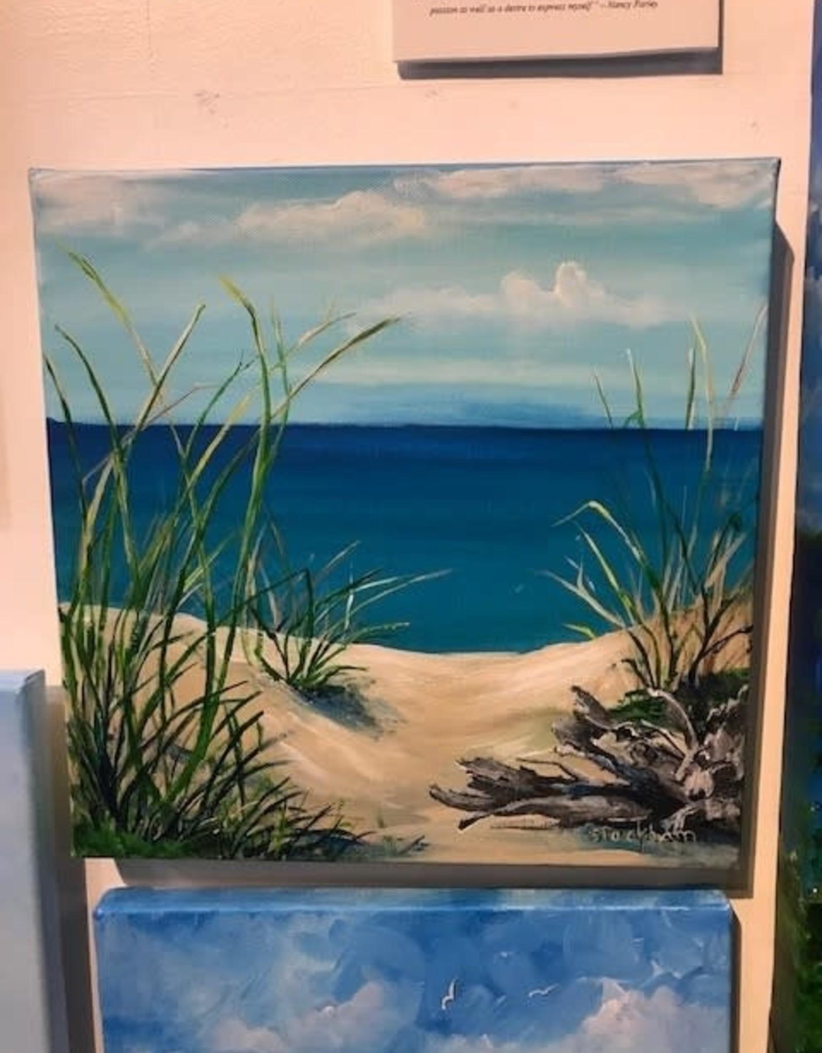 """Sea Grass by the Bay"" - Original Acrylic 12x12"